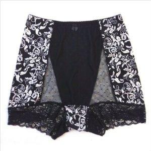 Rhonda Shear black floral pin up panties size XL